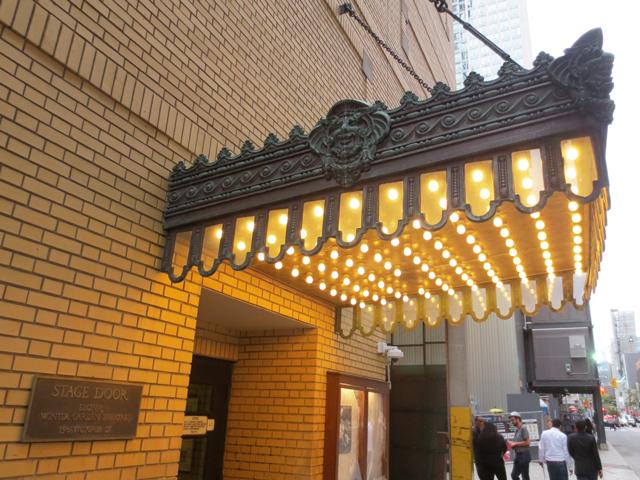at the stage door