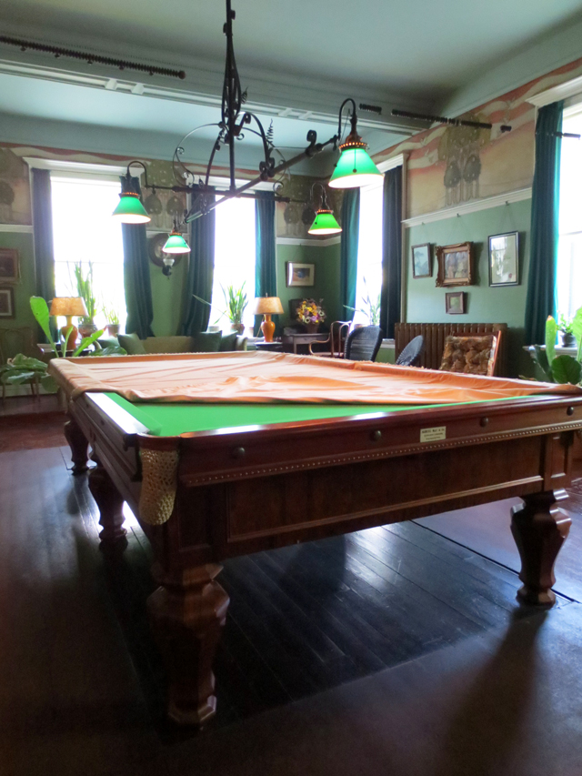 billiard table at spadina house historic home museum toronto