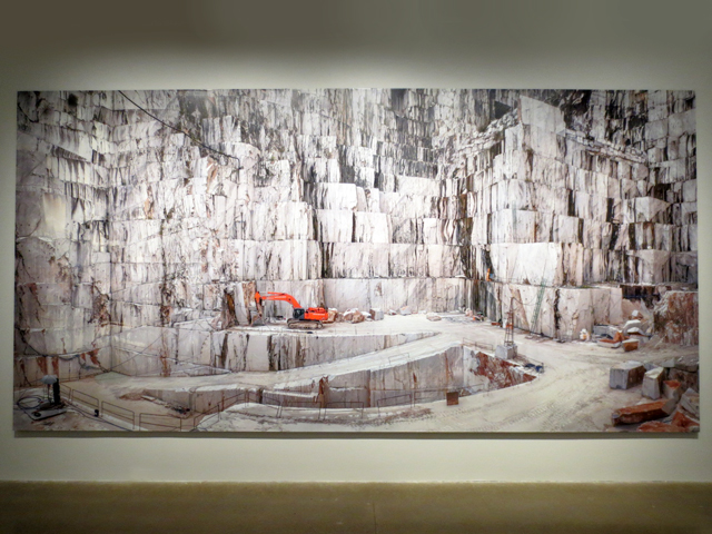 carrara marble quarry italy photograph and films at anthropocene exhibit ago toronto