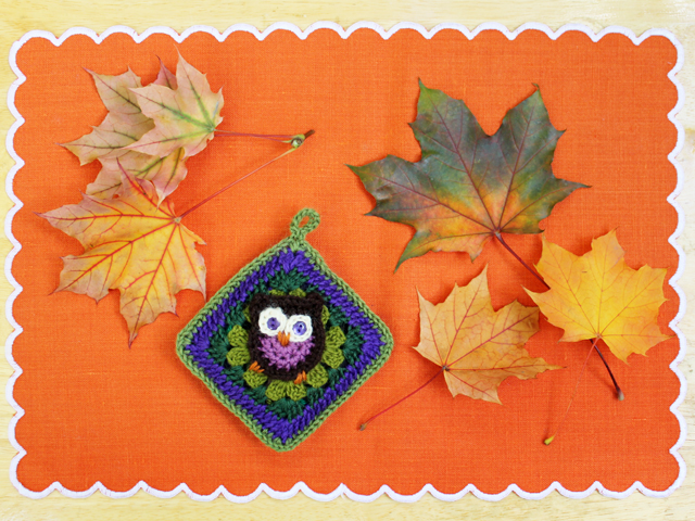 crochet a renewable scent sachet autumn owl by loulou downtown granny square pattern by repeat crafter me