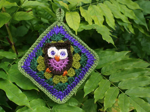 crocheted renewable scent sachet essential oils how to owl granny square pattern by sarah