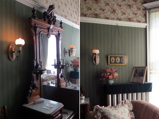 details in master bedroom spadina house