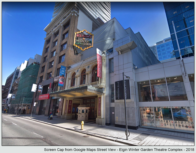 elgin theatre from google street view 2
