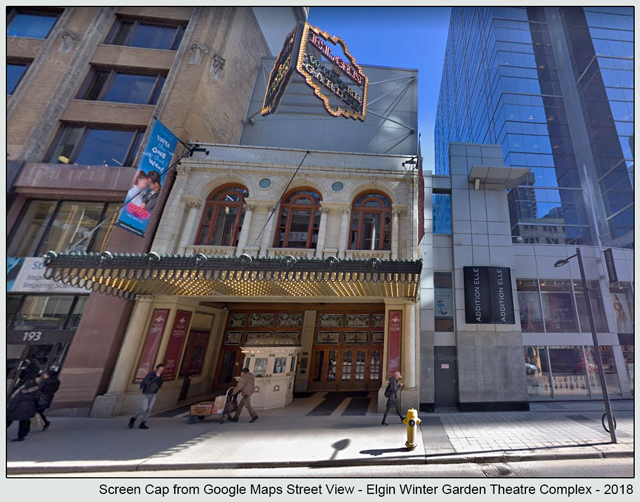 elgin theatre from google street view