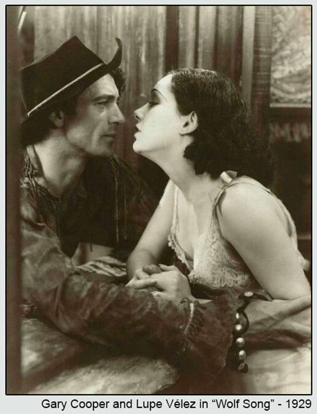 gary cooper and lupe valez in wolf song 1929