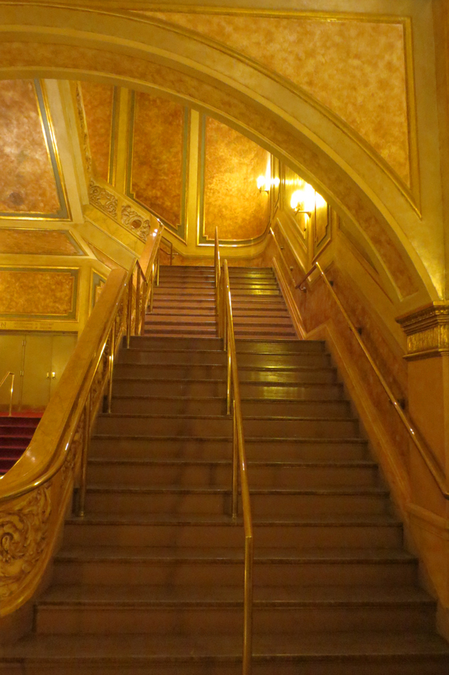 gold gilted staircase elgin theatre toronto