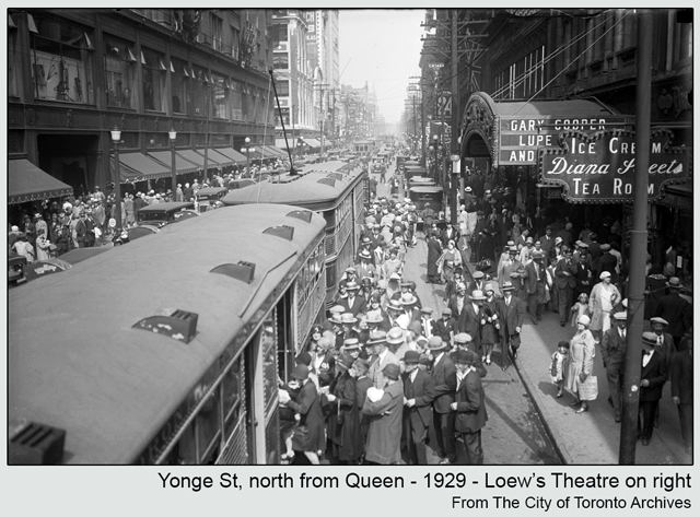 historic photograph toronto yonge and queen 1929