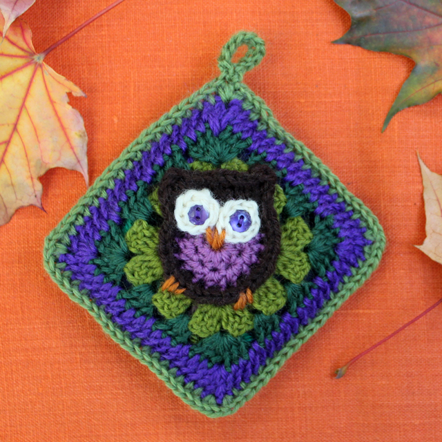 how to crochet a sachet cover with cotton insert by loulou pattern for owl granny square by sarah