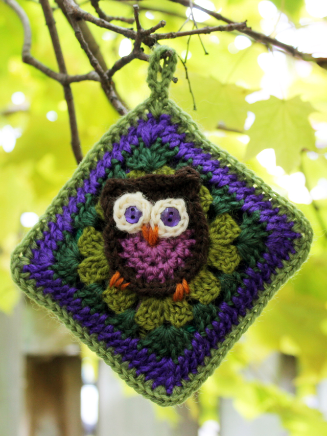 how to crochet a sachet with renewable scent by loulou pattern for owl granny square by sarah