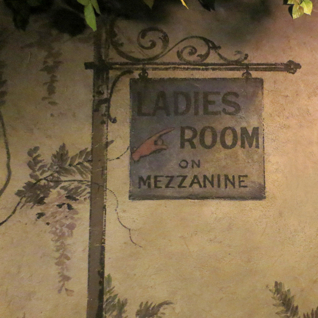 ladies room sign hand painted in 1914 winter garden theatre toronto