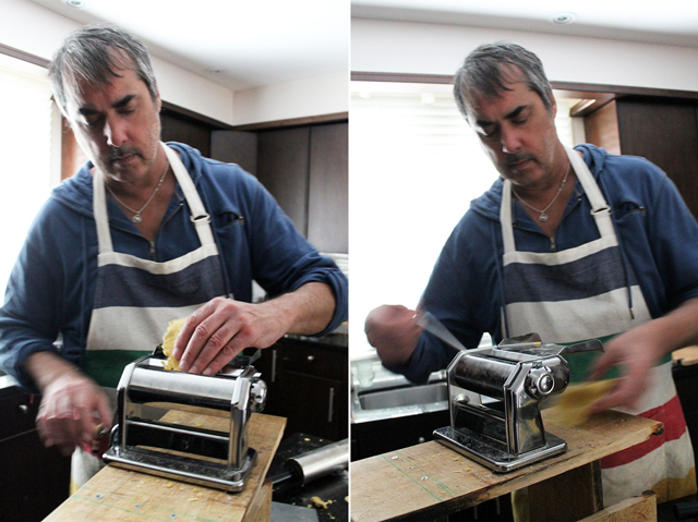 making pasta with the imperia pasta maker