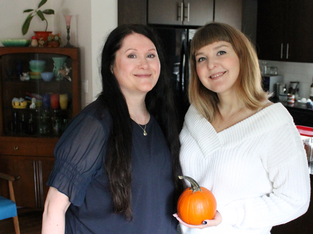 me and a and the pumpkin