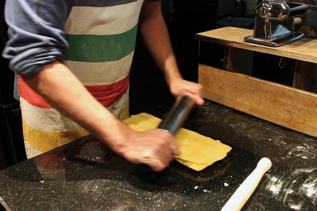nick making ravioli