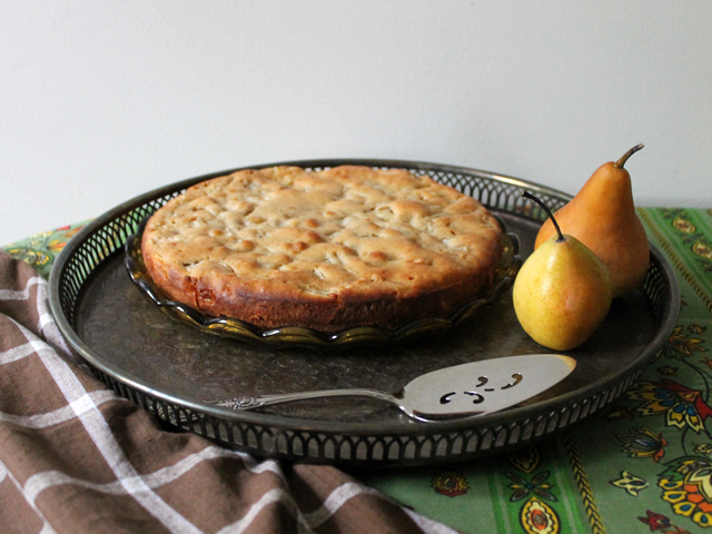 pear and cardamom cake recipe healthy dessert autumn thanksgiving