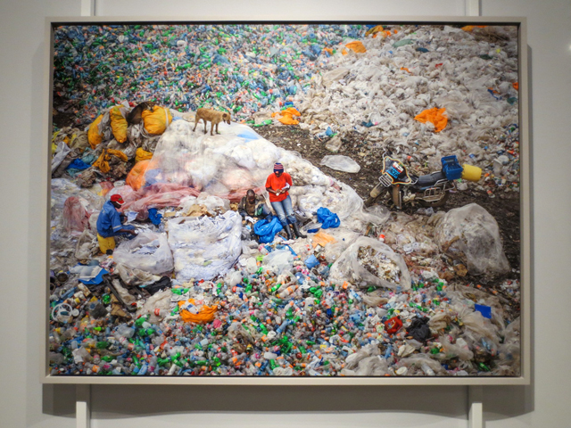 photograph by Edward Burtynsky at AGO Anthorpocene exhibition dandora landfill plastic recycling kenya
