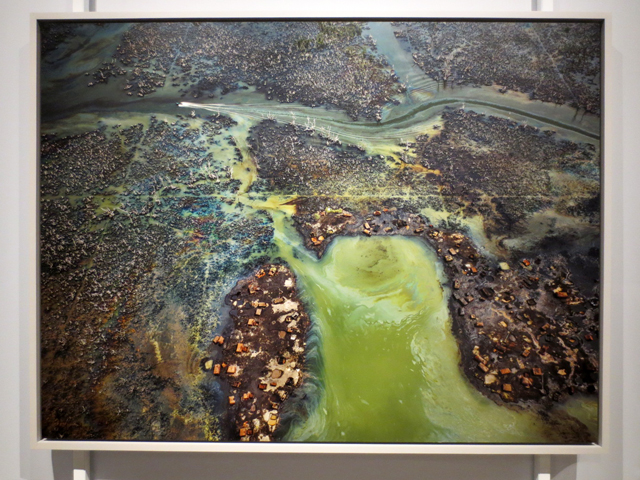photograph by Edward Burtynsky at AGO Anthropocene exhibition oil bunkering nigeria
