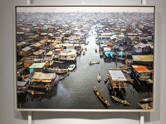 photograph by Edward Burtynsky makoko lagos nigeria at AGO Anthropocene