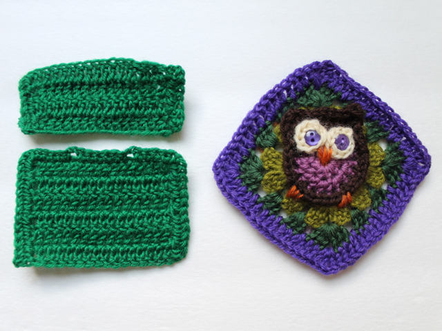 pieces to make crocheted sachet cover