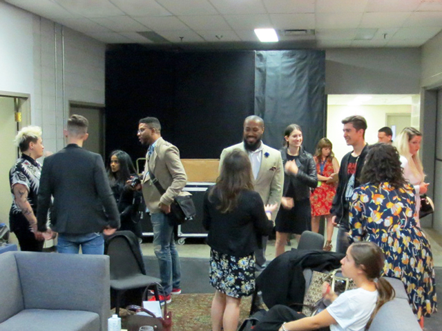 reception back stage before show