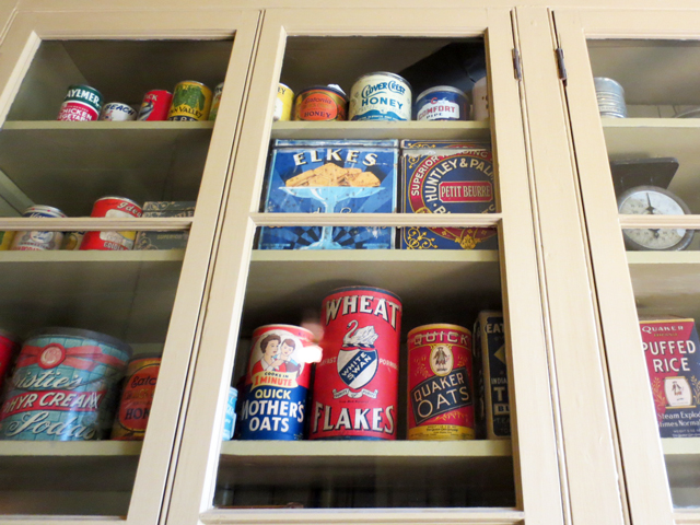 samples of canadian groceries in the twenties at spadina house museum toronto