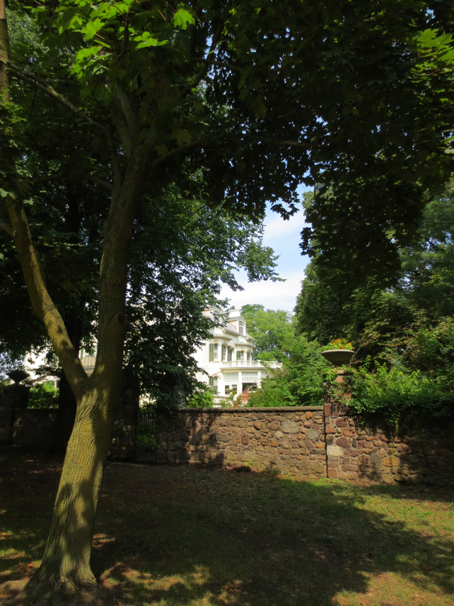 the house seen through the trees