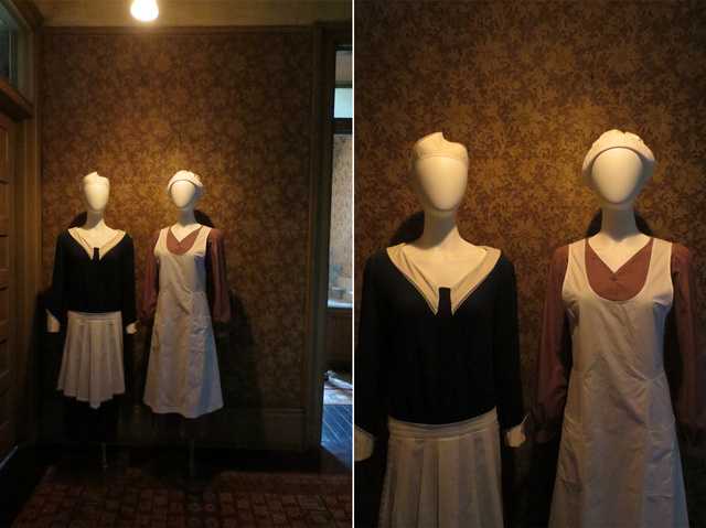 twenties style housekeepers uniforms at spadina house museum in toronto