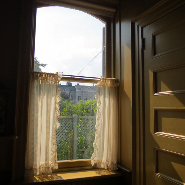 window in kitchen at spadina house historic home museum toronto