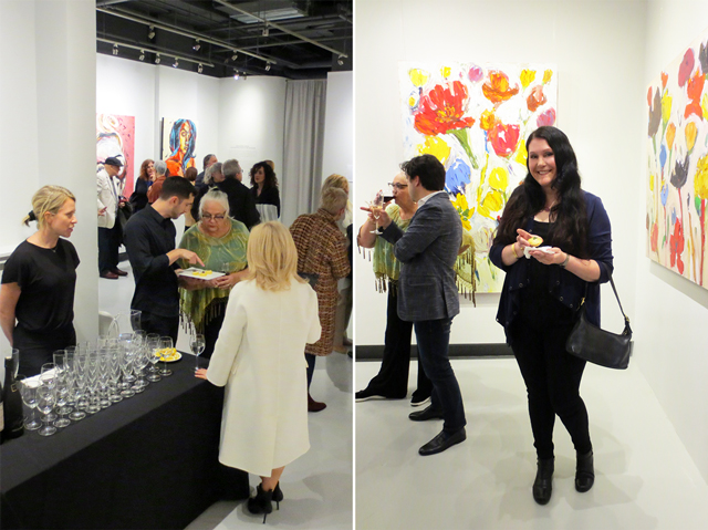 at an art opening c9 gallery toronto