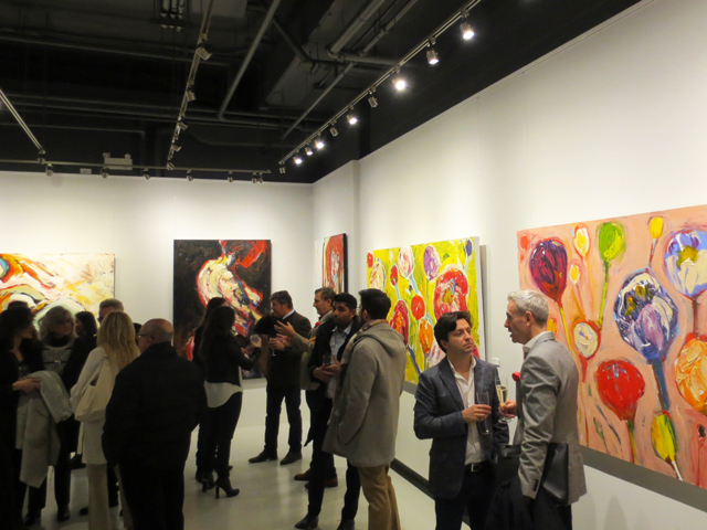 at opening party for sue tupy artwork at c9 gallery toronto yorkville