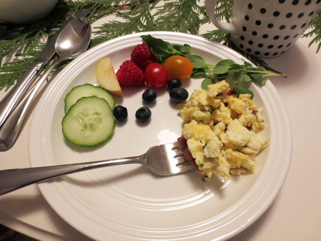 brunch with anthony bourdain scrambled eggs with bacon recipe