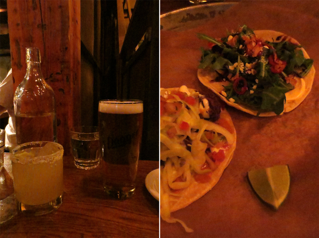 drinks and tacos at la carnita mexican restaurant john street toronto