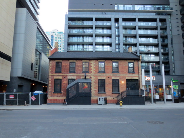 historic building richard west house toronto john street lar carnita restaurant