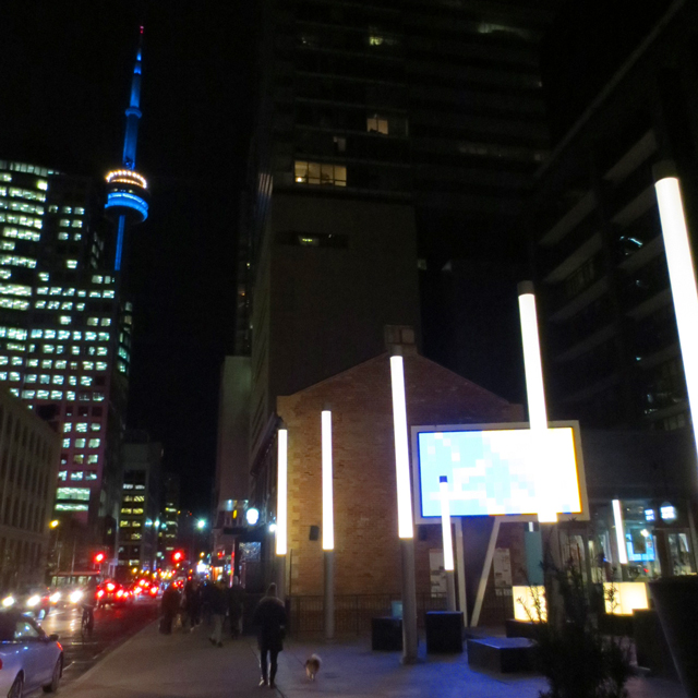 john street toronto at night