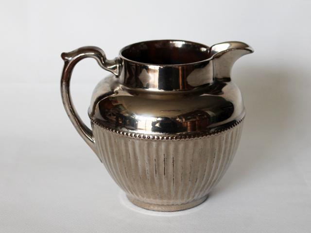 metallic glazed jug found at thrift store
