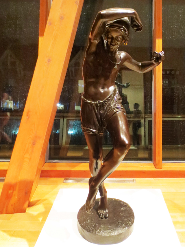 neapolitan fisherman dancing the tarantella by francisque joseph duret bronze sculpture on display at ago toronto