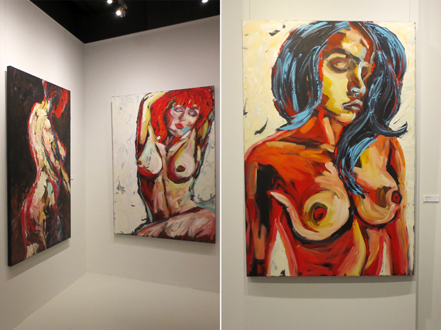 paintings by canadian artist sue tupy on display at c9 gallery toronto