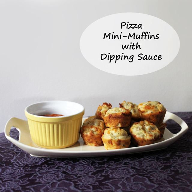 party food recipe pizza mini muffins with dipping sauce vegetarian hors doeuvre finger food appetizer