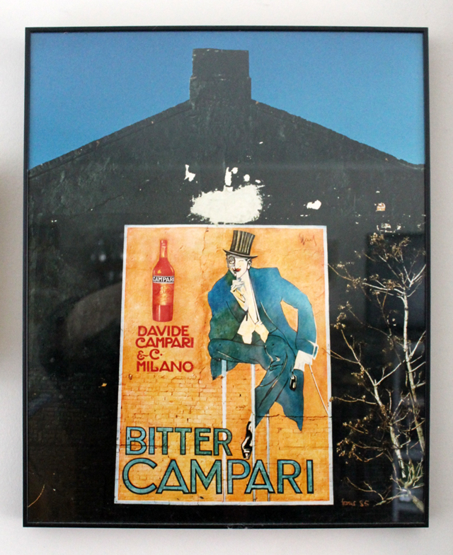 photograph of my photo of painting that used to be on the side of richard west houses john street toronto bitter campari 1