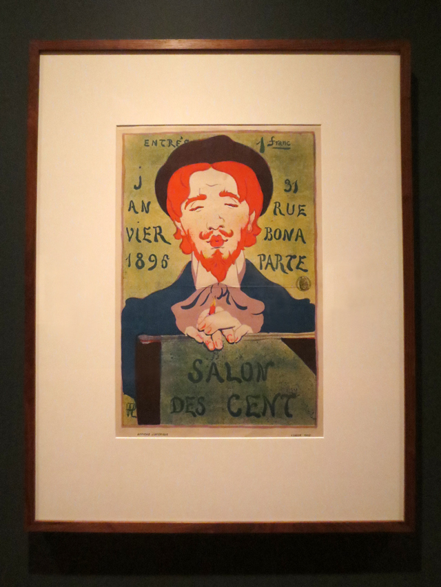 poster for salon des cent by hermann paul on display at ago toronto