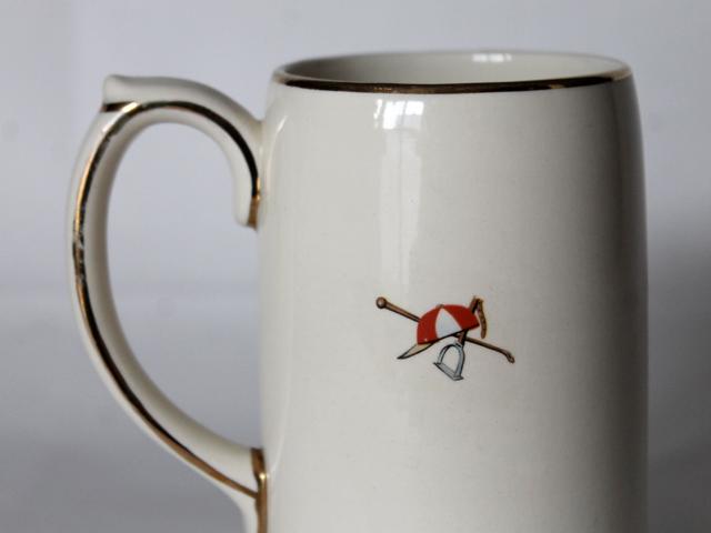sadler england ceramic beer stein horse back image