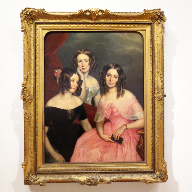 the-three-robinson-sisters-painting-portrait-by-george theodore
