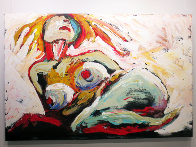 venus awakened by sue tupy on display at c9 gallery toronto