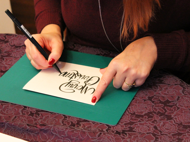 andrea hand lettering
