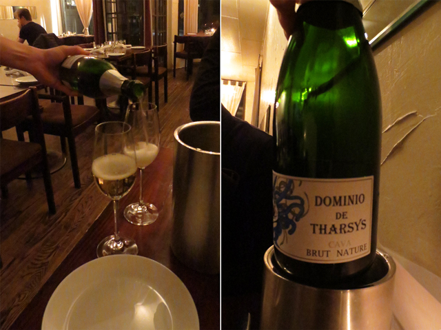 dominio de tharsys cava brut nature wine at beast restaurant toronto