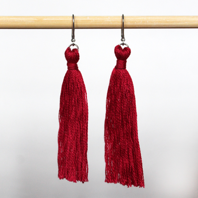 hand crafted tassel earrings made with embroidery thread how to