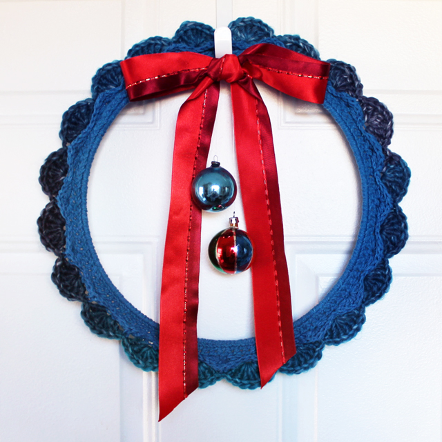 how to crochet a wreath handmade christmas free pattern