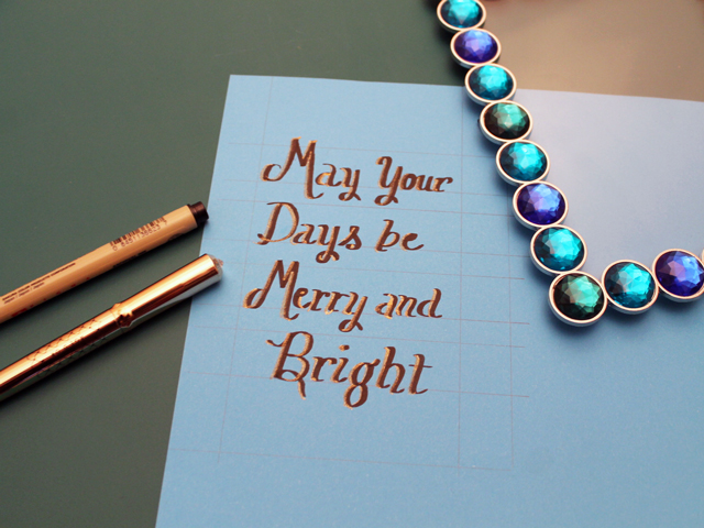 lettering christmas quote