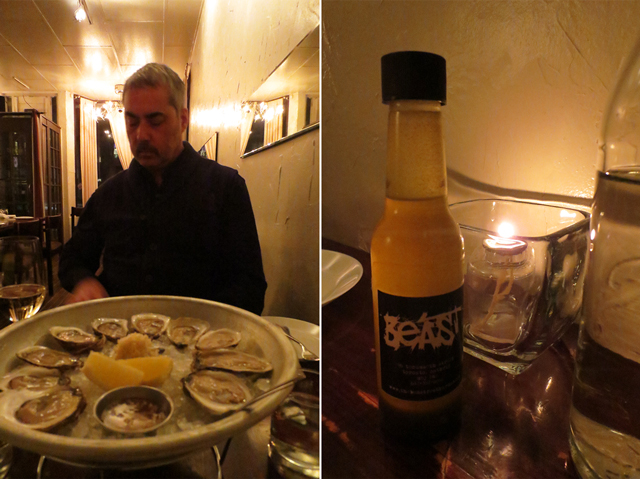 oysters at beast restaurant toronto