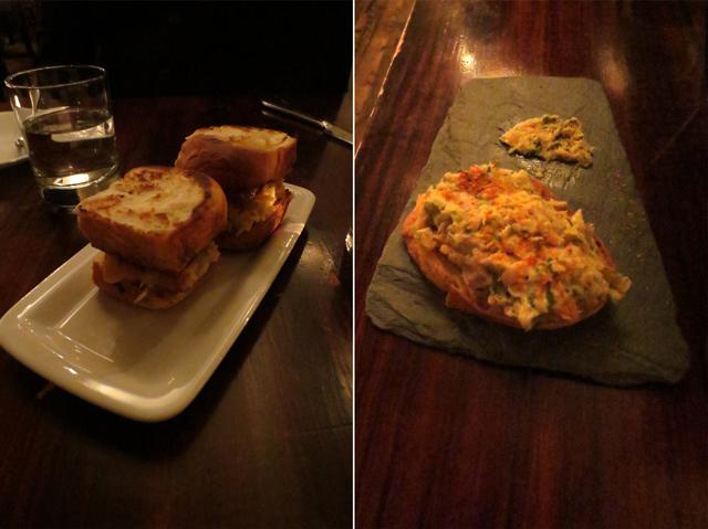 sliders and crostini at beast restaurant toronto