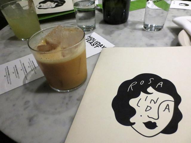cocktails and menu rosalinda toronto